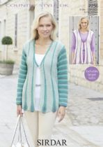 Sirdar Country Style DK - 7756 Cardigan and Waistcoat Knitting Pattern